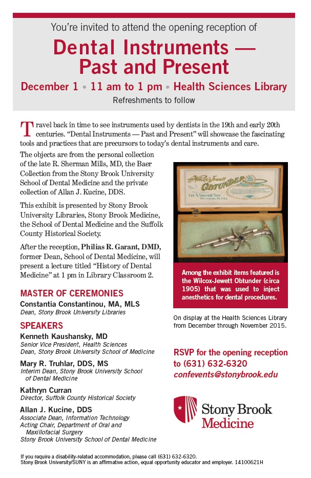 Dental Instruments — Past and Present | Stony Brook University Libraries
