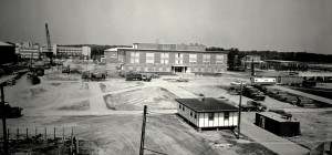 Photograph of the Melville Library taken on June 2, 1970.