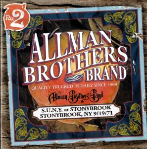 Allman Brothers Band. CD cover of the Stony Brook concert, September 19, 1971.