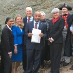 Visit at Patriot's Rock with Assemblyman Steven Englebright and Speaker Carl E. Heastie, October 20, 2015.