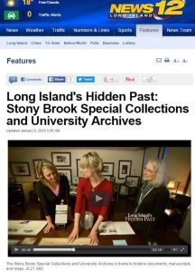 News 12 Long Island's Hidden Past, January 2016.