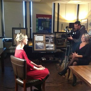 News 12's visit to Special Collections, December 2015.