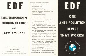 EDF brochure, circa 1979, from the Environmental Defense Fund Archive.