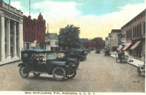 Main Street, Looking West, Huntington, L.I., N.Y., undated.