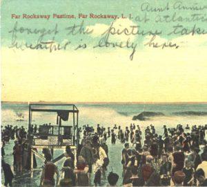 Breakers at Rockaway Beach, ca. 1910.