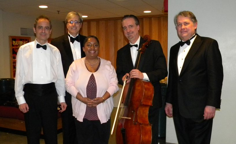 Gisele Schierhorst with Emerson Quartet