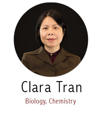 Clara Tran, Subject Specialist for Biology and Chemistry
