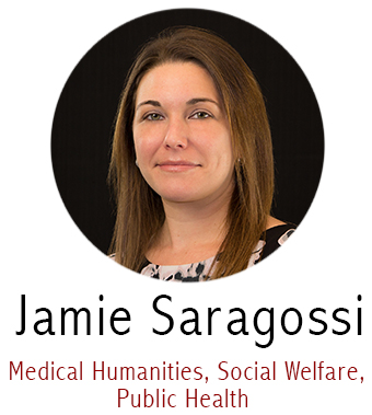 Jamie Saragossi, Subject Specialist for Medical Humanities, Social Welfare, Dental Medicine