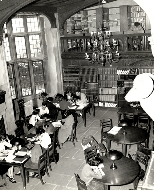 Library, State University College of Long Island at Oyster Bay, circa 1958. Photograph from the University Archives.