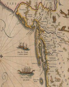 Willem Janszoon Blaeu (1571-1638) Nova Belgica et Anglia Nova. [Amsterdam]: Blaeu, ca. 1635.