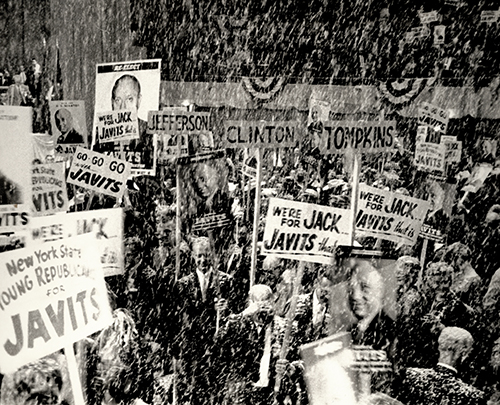 New York State Republican Convention, 1962. Photograph from the Senator Jacob K. Javits Collection.