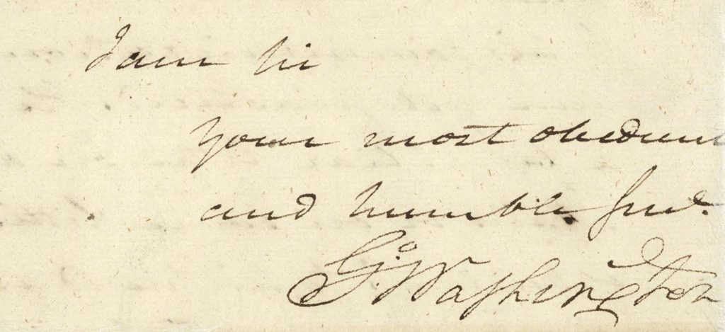 Letter, George Washington to Major Benjamin Tallmadge, September 24, 1779.