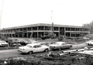 Stony Brook Union, February 1967. Photograph from the University Archives, Stony Brook University Libraries.