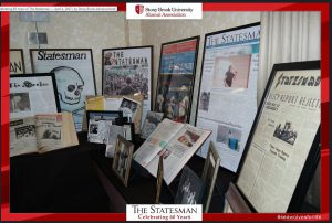"Alumni Association, Stony Brook University: ""Celebrating 60 Years of the Statesman"" held on April 1, 2017. Exhibition from Special Collections and University Archives, Stony Brook University Libraries."