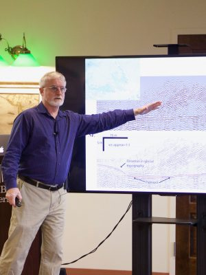 "Dan Davis presents at the STEM Speaker Series on ""Mapping the Geology of Long Island"""