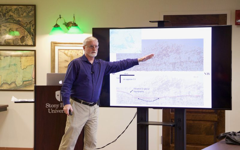 """Dan Davis presents at the STEM Speaker Series on """"Mapping the Geology of Long Island"""""""