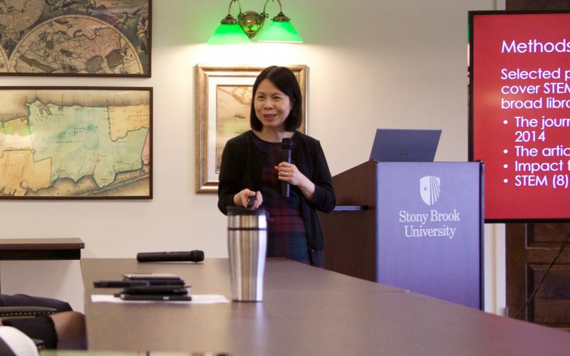 Clara Tran presents at the Library Colloquium Series