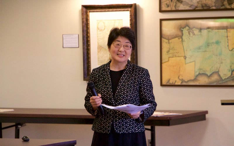 Janet Clarke presents at the Library Colloquium Series