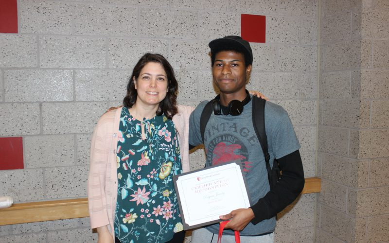 Bryan Jeanty, Student Employee Special Recognition