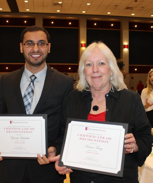 Yousef Hailabeh, Student Employee Special Recognition Hanne Tracy, Student Supervisor Special Recognition