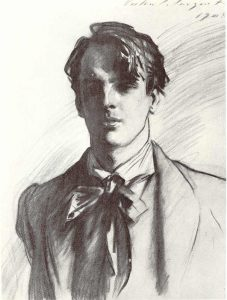 William Butler Yeats by John Singer Sargent, 1908. Wikimedia Commons.