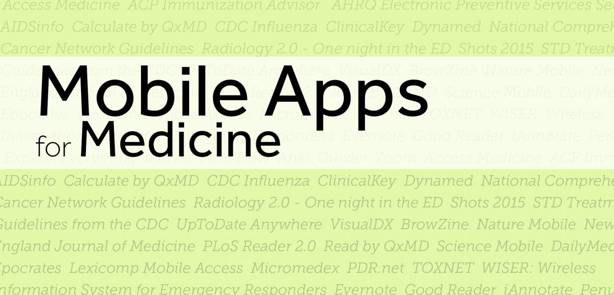 Mobile applications for medicine