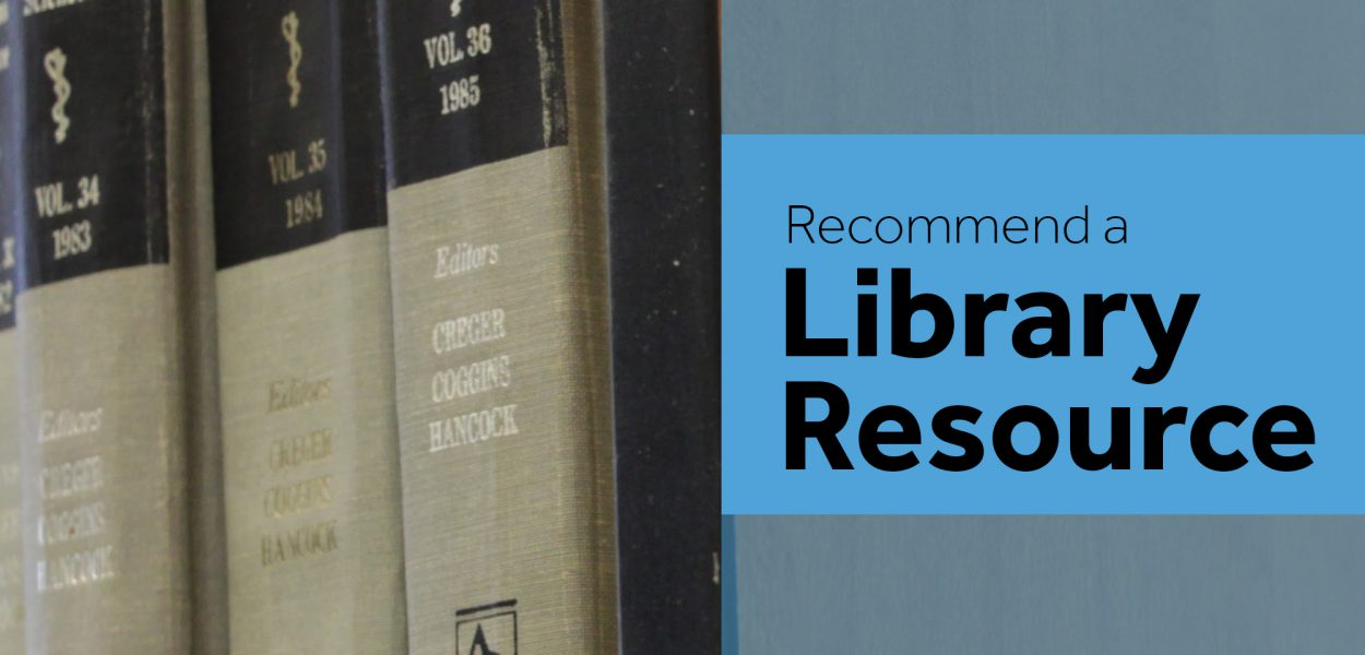 Recommend a Library Resource