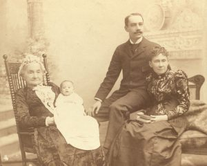 Photograph, four generations of the Childs Family, from left to right - Jane Ketchum Childs, Dorothy Shubrick Childs, Eversley Childs, and Maria Eversley Childs - taken in 1892.