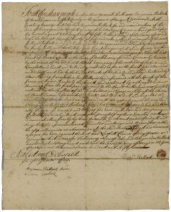 1752 Land deed, Benjamin Hallock, Old Field, Setauket, NY.