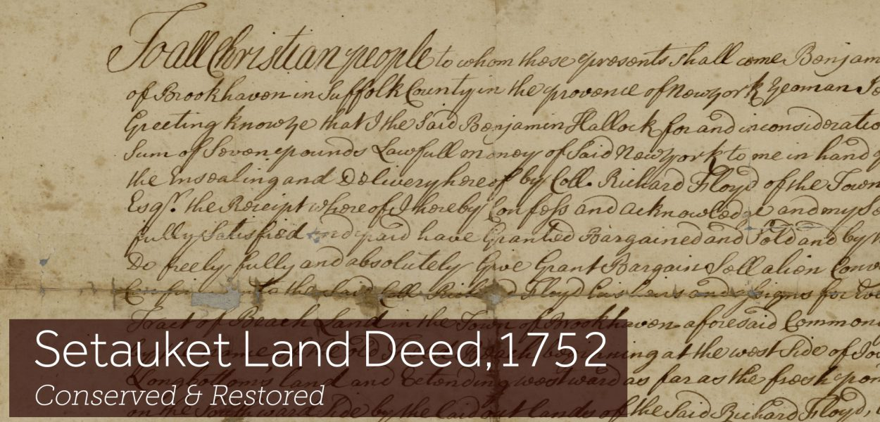 Historic Land Deed from 1752