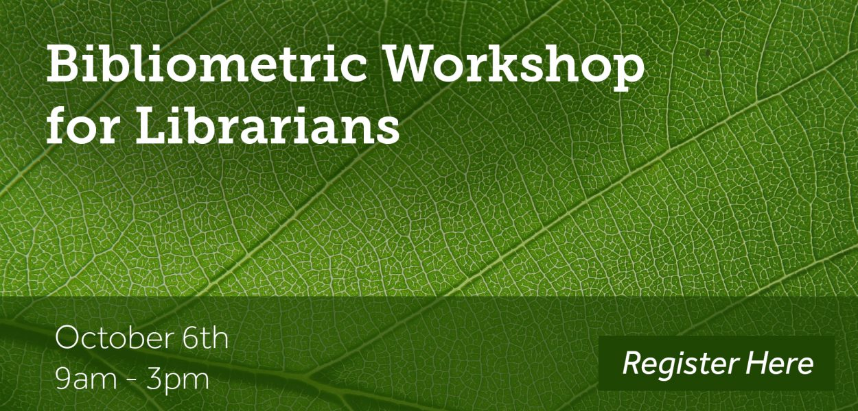 Bibliometric workshop for librarians