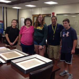 Visitors to Special Collections on Culper Spy Day, September 16, 2017.
