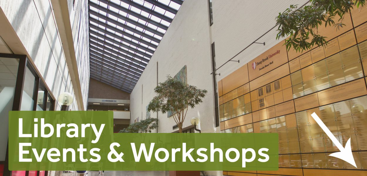 Library events and workshops