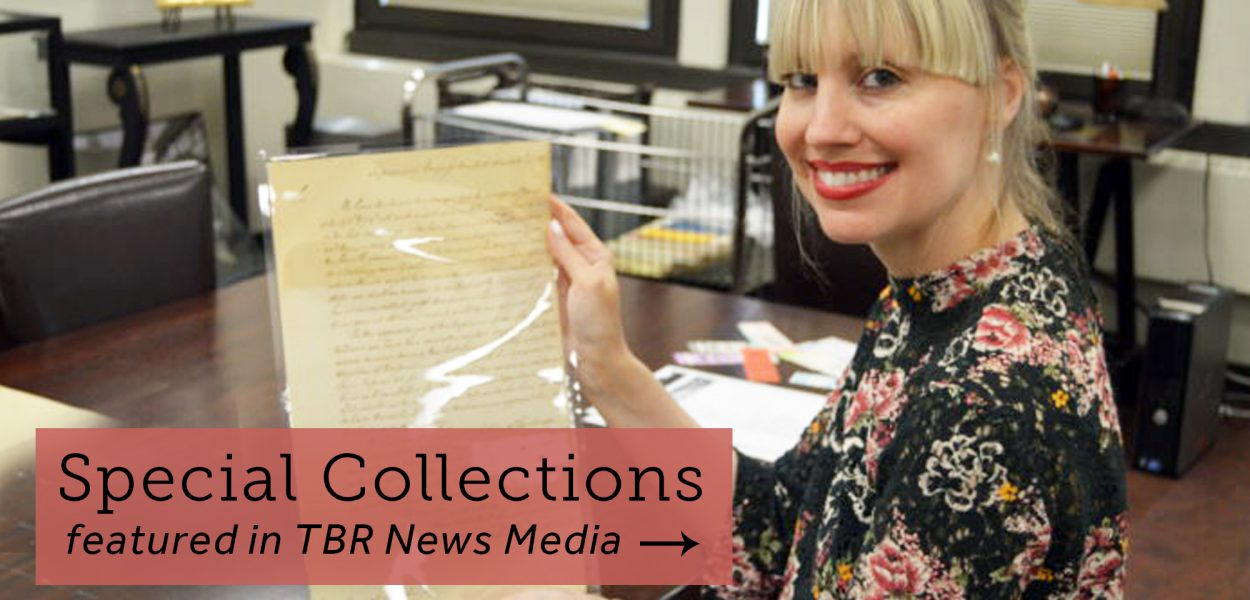 Special Collections interviewed for TBR News Media