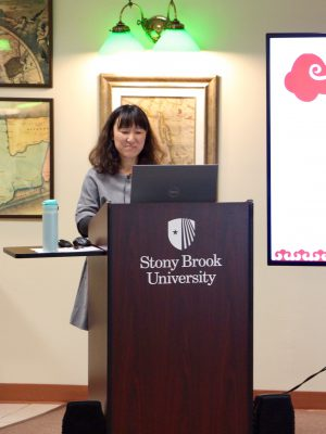 Visiting librarian, Ning Jia, presents at the Global Library Initiatives Colloquium