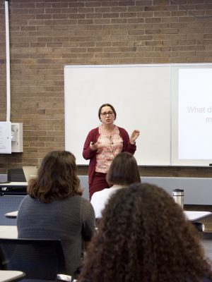 Violeta Ilik presents at the Library Colloquium Series