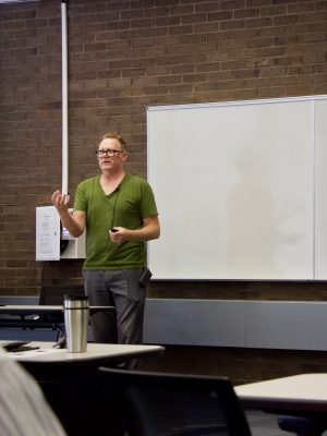 Darren Chase presents at the Library Colloquium Series