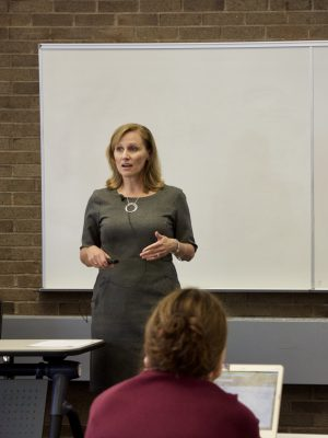 Jennifer DeVito presents at the Library Colloquium Series