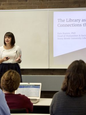 Kate Kasten presents at the Library Colloquium Series