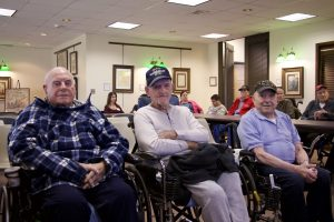 Special guests from the Long Island State Veterans Home. October 19, 2017.