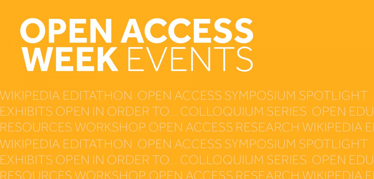 Open access week events