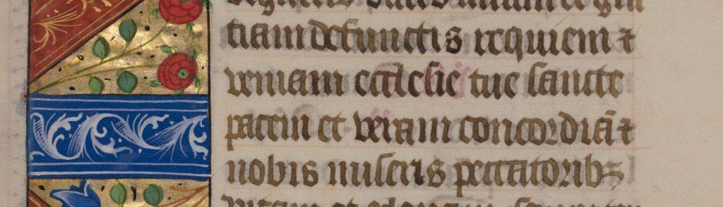"Leaf 47: ""Book of Hours: Horæ Bretæ Mariæ Virginis."" Latin, 15th century. Otto F. Ege: Fifty Original Leaves from Medieval Manuscripts."