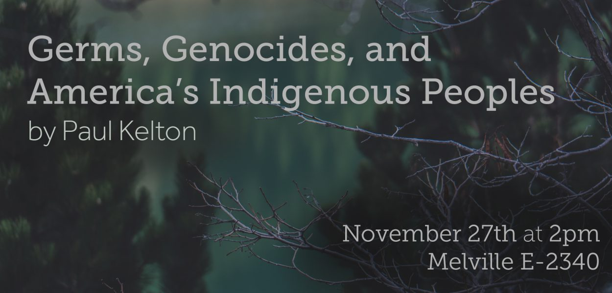 Lecture by Paul Kelton in Honor of Native American Heritage Month