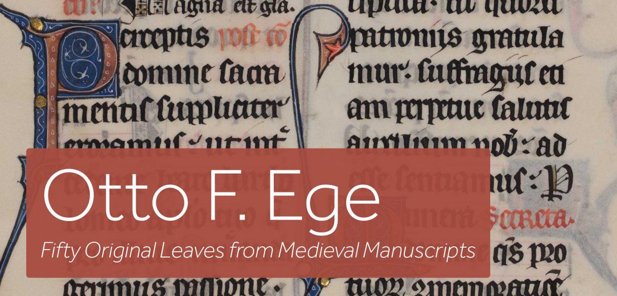 Otto F. Ege Collection