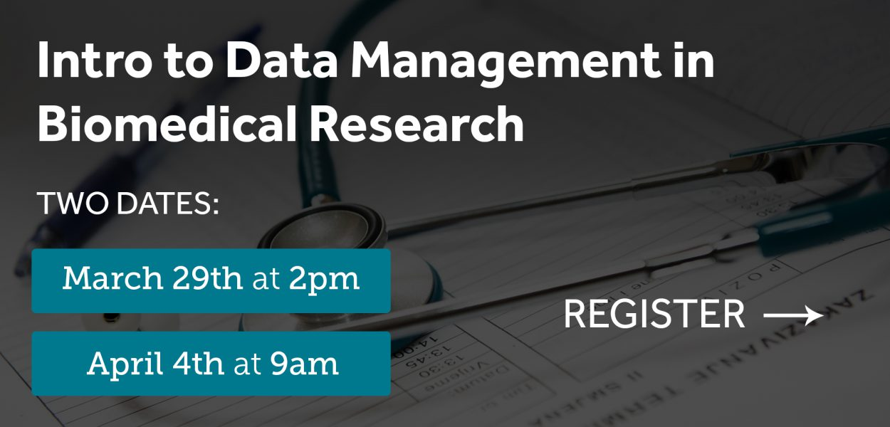 Intro to data management in biomedical research