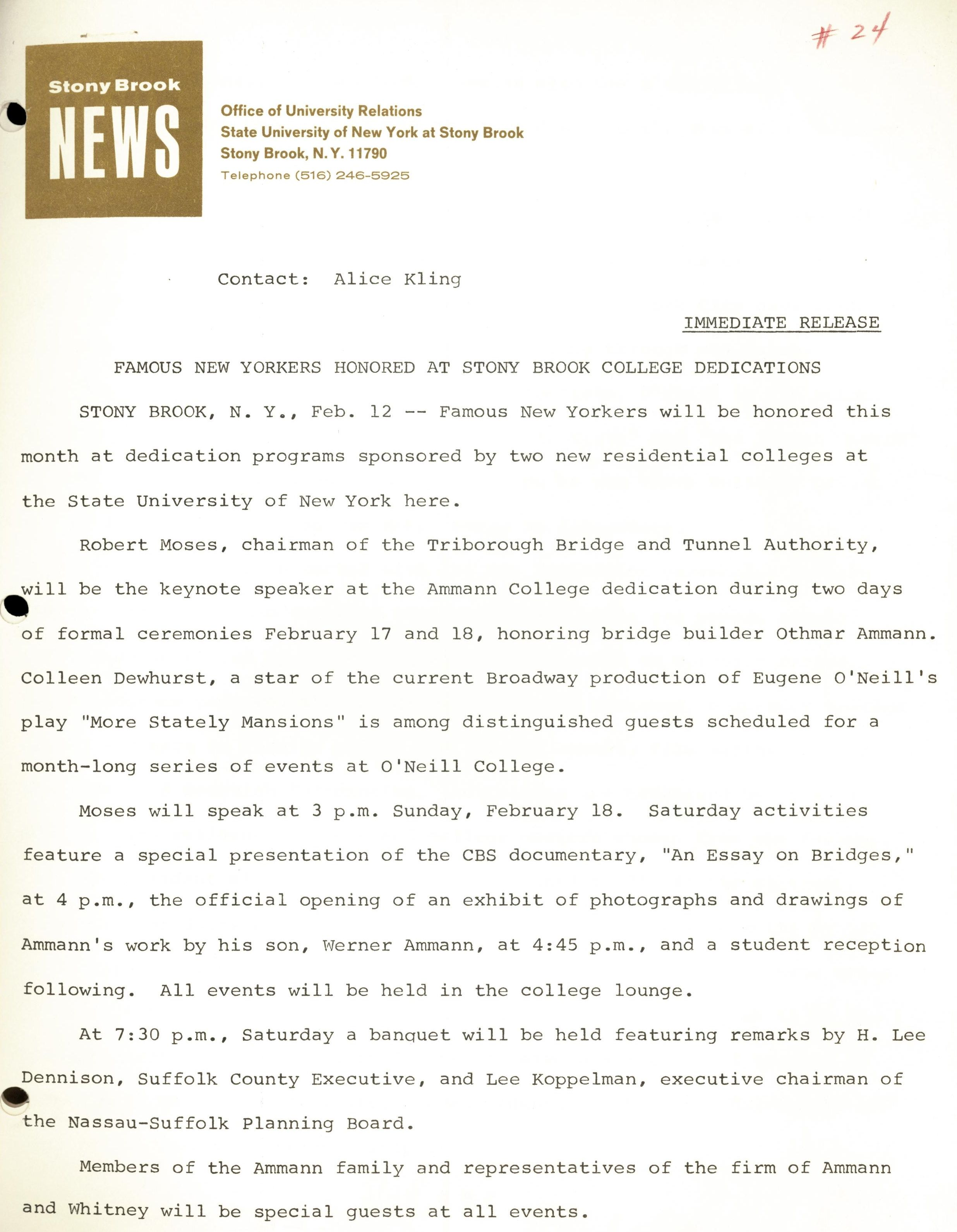 New archive chronicles sbu in the 1960s and 1970s university libraries sbu press release announcing the dedications of ammann and oneill colleges dormitories spiritdancerdesigns Image collections
