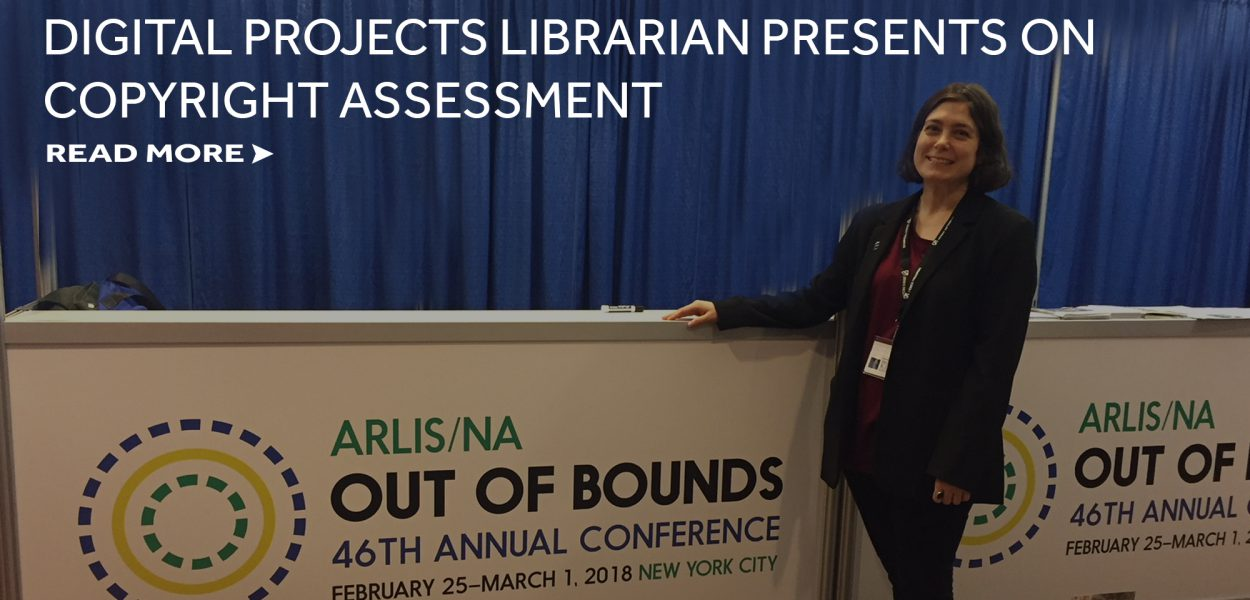 Digital projects librarian presents on copyright assessment