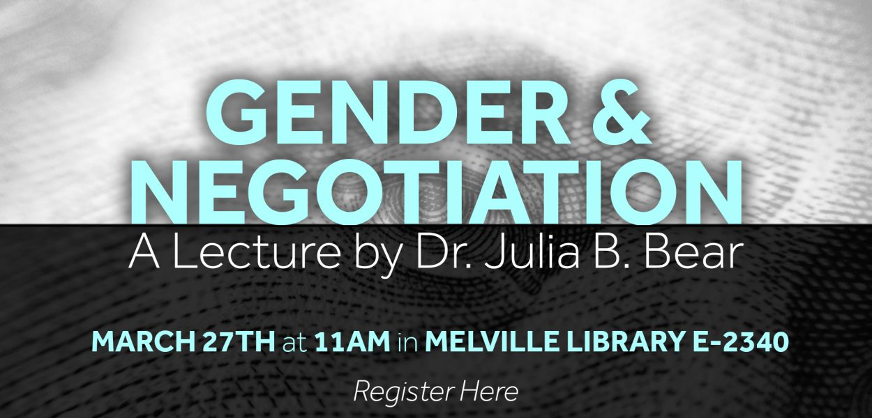 Gender and Negotiation lecture