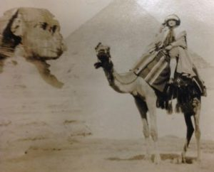 Jane Howard Perkins in Egypt, ca. 1940.