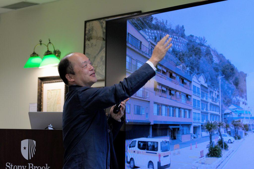 Mr. Yoji Nishigaya lecturing